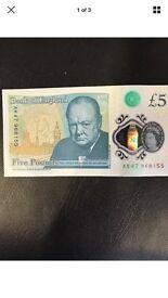 AK47 £5 note.