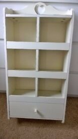 Shabby Chic shelf unit c/w accessories