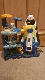 Fisher price imaginext rocket and space station