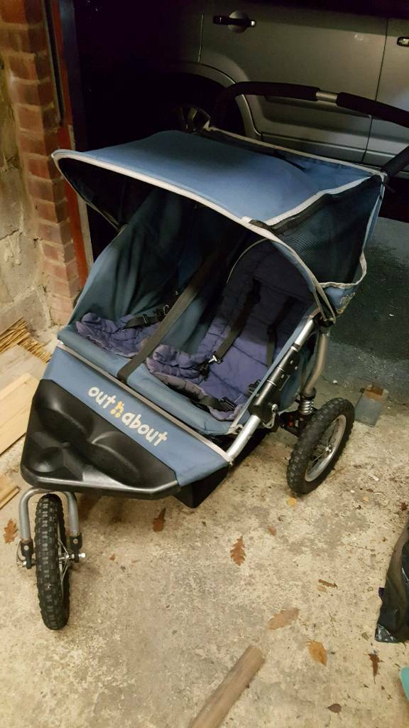 out n about 360 nipper double buggy in poole dorset. Black Bedroom Furniture Sets. Home Design Ideas