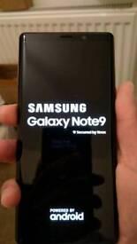 Samsung galaxy note 9, brand new.