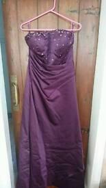 A-line Strapless Satin Bridesmaid Dress