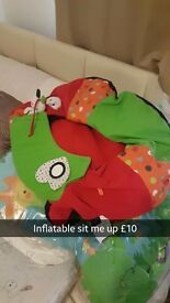 Inflatable sit me up toy