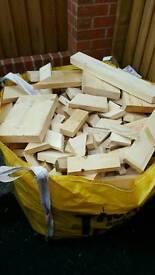 Firewood 1 Ton builders bag