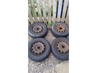 Fiesta steel wheels tyres 175/65/14s