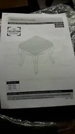 New sophia dressing table stool