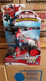 Ultimate Spiderman Blast And Go!! Spiderman Figure and Quadbike, Band New, Sealed