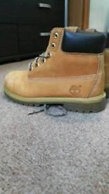 Timberland kids boots size UK 2