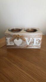 Love Tea light holder