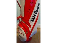 Wilson Golf Bag, red/white with gold trim