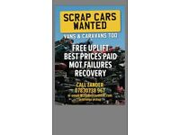 SCRAP CARS VANS WANTED (RECOVERY)