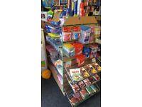 4Ft. Slatwall 4-sided H-shape Retail Display Gondola Shopfitting + 8 Glass + 16 Brackets + 2 Baskets