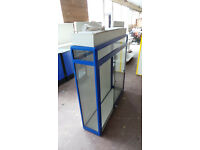 BLUE & WHITE RETAIL DISPLAY CABINET