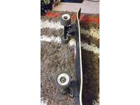 Hybrid longboard / skateboard.