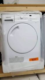 New graded Hotpoint 8kg condenser dryer with 12 months guarantee