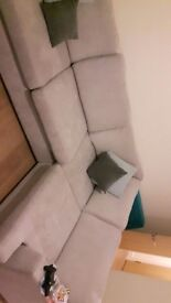 Corner sofa bed. Corner sofa with fold out double bed less than a year old only used for 6 months