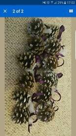 12 hand-made christmas tree decorations