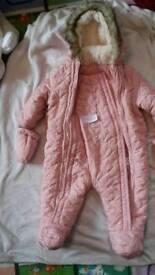 Baby girl pramsuit 3-6 month