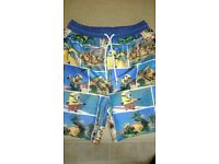 Minion swimming trunks, age 9