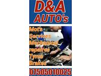 MOT SERVICES BRAKES MECHANICAL REPAIRS GARAGES
