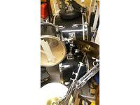 Black drum kit