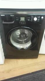 BEKO BLACK 8KG LOAD 1200 SPIN DIGITAL SCREEN GRADED WASHING MACHINE