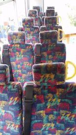Minibus van double seats