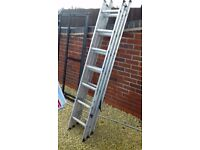 Telescopic aluminium 3 tier ladder