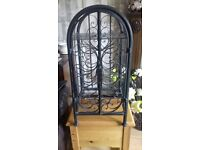 BEAUTIFUL TOP QUALITY SHABBY STYLE CAST IRON WINE RACK