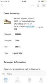 Adidas x pharrell Williams NMD Multi uk 8.5