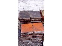 208 ORIGINAL RECLAIMED 9X9INCH QUARRY TILES ONLY .80 P EACH