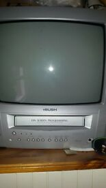 Free small bush old style tv with dvd incorporate