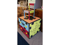 Large Two Drawer Toy Storage and Matching Chair