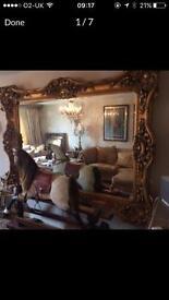 Armoire ornate rococo mirror