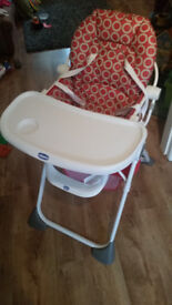 Chicco High Chair for babies/infants/toddlers - Excellent condition