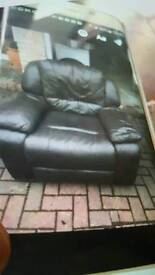 1 sitter brown leather recliner Chair