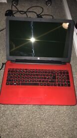 Red HP Notebook Laptop