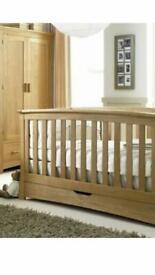 Mamas and Papas Oak Ocean Cot Bed