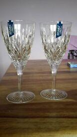 2 Stuart crystal Glasses