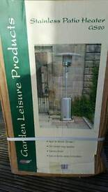 Brand new stainless steel patio heater