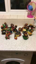 18 Rasta ashtrays.