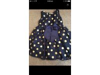 Girls navy party dress 3-4 years