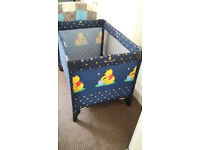 Travel Cot – Winnie the Pooh themed, in very good clean hardly used condition