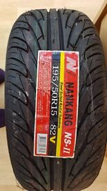 2 x New tyres 195/50R15 82v