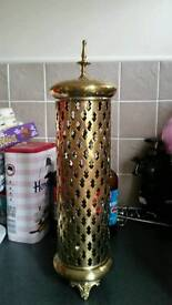 Brass morrocan style candle holder