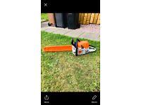 "Professional grade stihl chainsaw MS391 20"" bar"