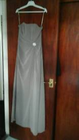 New Bridesmaid /prom dress size 12 stone colour -never been worn Gorgeous detail