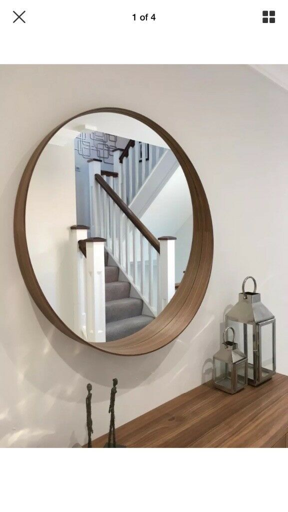 brand new ikea stockholm walnut large round mirror in. Black Bedroom Furniture Sets. Home Design Ideas