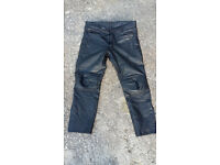 Motorbike trousers leather
