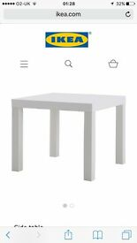 IKEA 2x Table Lack white